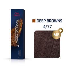 Wella Koleston Perfect Me+ Deep Browns Közepes intenzitású barna hajfesték 4/77 60ml
