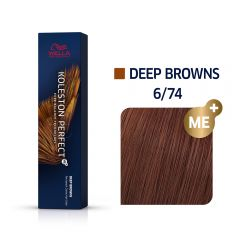 Wella Koleston Perfect Me+ Deep Browns Világos Gesztenye Vörös Professzionális Hajfesték 6/74 60 ml