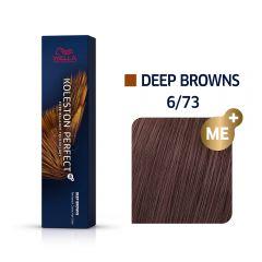 Wella Koleston Perfect Me+ Deep Browns Világos Gesztenye Barna Professzionális Hajfesték 6/73 60 ml