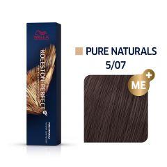 Wella Koleston Perfect Me+ Pure Naturals Természetes Barna Professzionális Hajfesték 5/07 60 ml