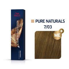 Wella Koleston Perfect Me+ Pure Naturals Arany Szőke Professzionális Hajfesték 7/03 60 ml