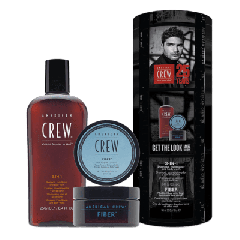 American Crew Csomag Hair & Body 3-IN-1 250ml + Styling Fiber hajformázó krém 85g
