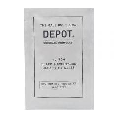 Depot 504 Cleansing Wipes Beard & Moustache Papirtörlő 12db