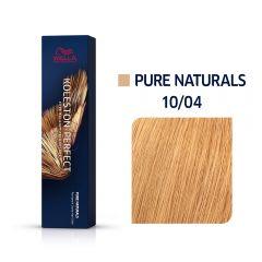 Wella Koleston Perfect Me+ Pure Naturals Természetes Világos Szőke Professzionális Hajfesték 10/04 60 ml
