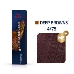 Wella Koleston Perfect Me+ Deep Browns Közepes Mahagóni Barna Professzionális Hajfesték 4/75 60 ml